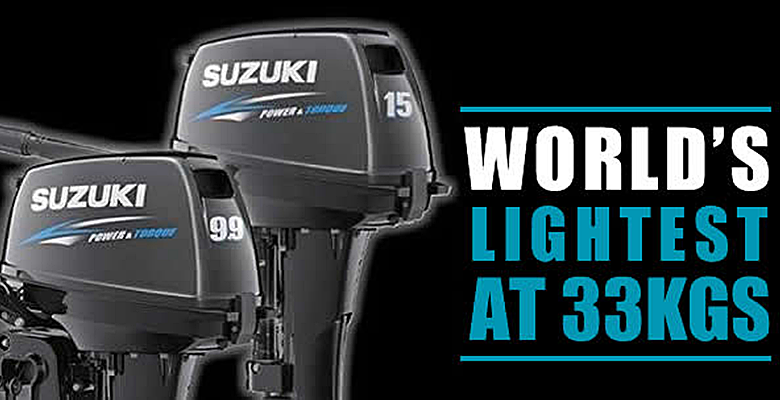 Natal Power boats - Suzuki black outboard motor