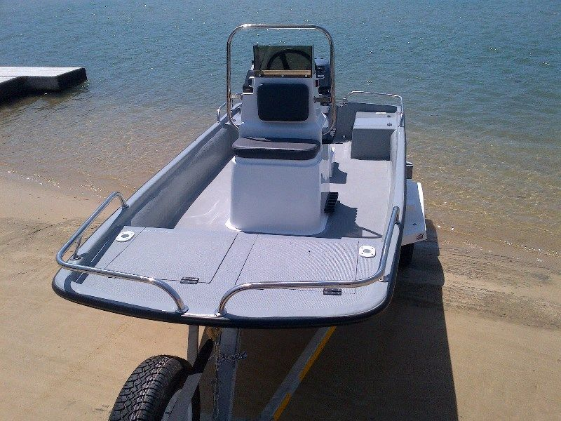 Bandit 380 cathedral hull centre console natal power boats for Buy bass boat without motor