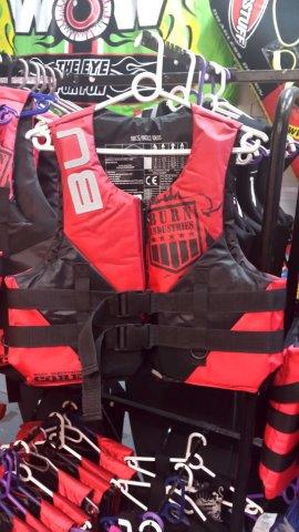 Burn Life jackets, assortment of sizes/ Colours