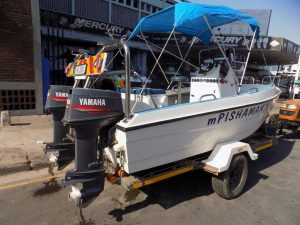 Scorpion cat 16ft centre with 2 x 40hp Yamaha motors