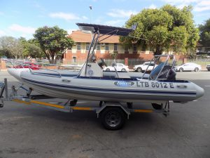 Falcon 540 mono hull on trailer 115 hp yamaha trim & tilt